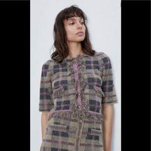 Zara Rhinestone Tweed Set